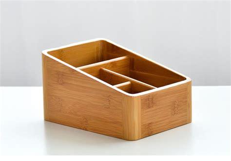 4 Compartments Bamboo Desk Organizer Yi Bamboo Bamboo Bamboo Desk Organizer