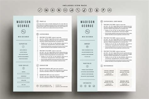 Clean Creative Resume Templates roundup 5 clean and creative resume templates every tuesday