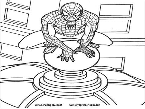 dibujos para pintar hombre araña hombre ara 241 a o spiderman para pintar colorear im 225 genes