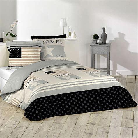 parure de lit motifs drapeau am 233 ricain 100 coton