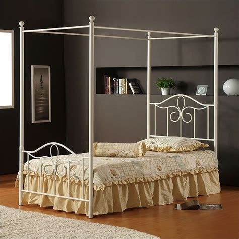 metal canopy bed hillsdale westfield metal canopy bed in off white 1354bxpr