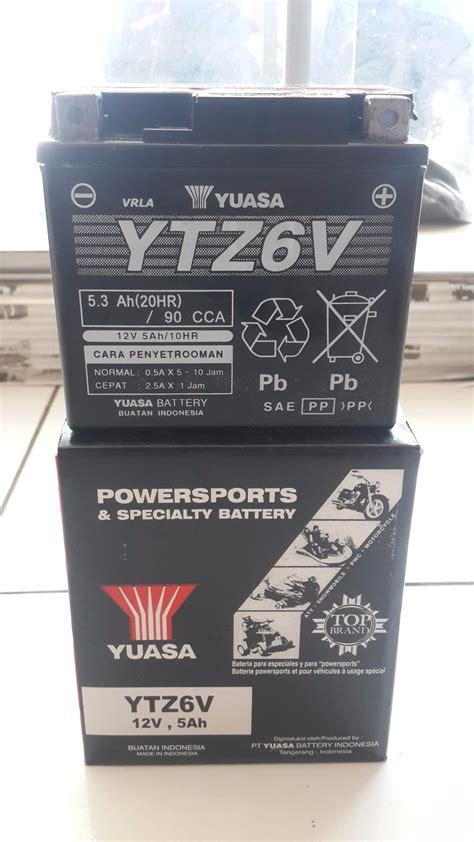 Aki Yuasa Ytz 6v jual aki yuasa ytz6v kering satria fu vario 125 mg