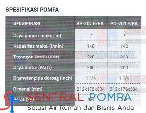 Pompa Celup 200 Watt pompa celup air laut 200 watt sp 202 ea otomatis sentral