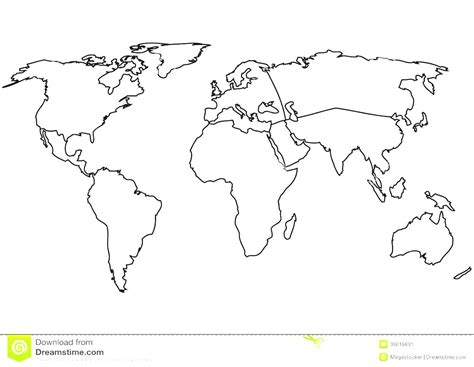 Continent Clipart Printable Pencil And In Color Continent Clipart Printable Map Template