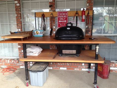 this is my custom made primo grill primo table pinterest