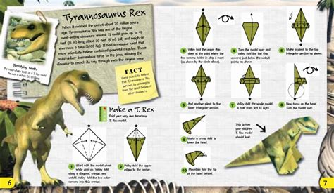 Dinosaur Origami Book - origami adventures dinosaurs the dinosaur farm