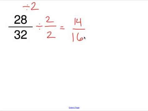 reducing fractions to simplest form mp4