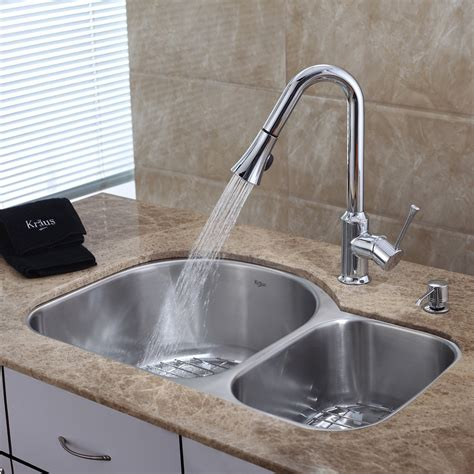 undermount kitchen sink and faucet combo