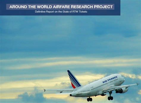 introducing the around the world airfare report free