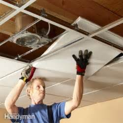 Beadboard Planks For Ceiling - drop ceiling installation tips the family handyman