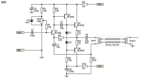 transistor reverb driver reverb schematic reverb tanks explained and compared antique electronic supply