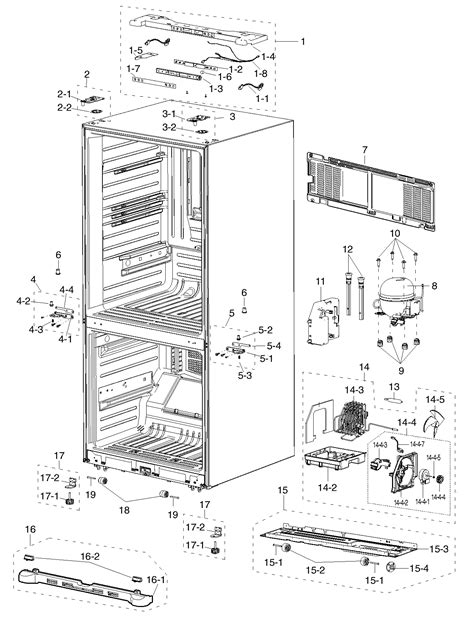 samsung refrigerator parts diagram refrigerator parts samsung refrigerator parts list