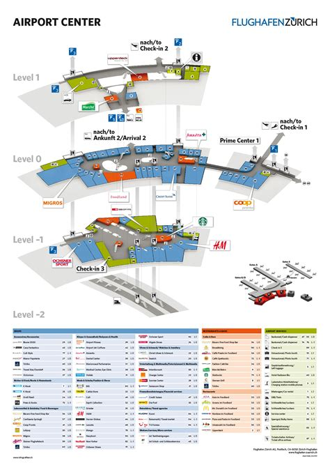 zurich airport layout map zurich airport map bing images