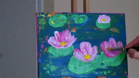 watercolor lotus tutorial tanja bell how to paint abstract painting lily pond