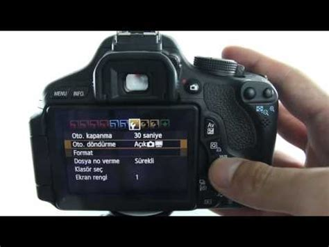 tutorial video canon eos 600d 3 canon eos 600d 199 ekim ayarları youtube