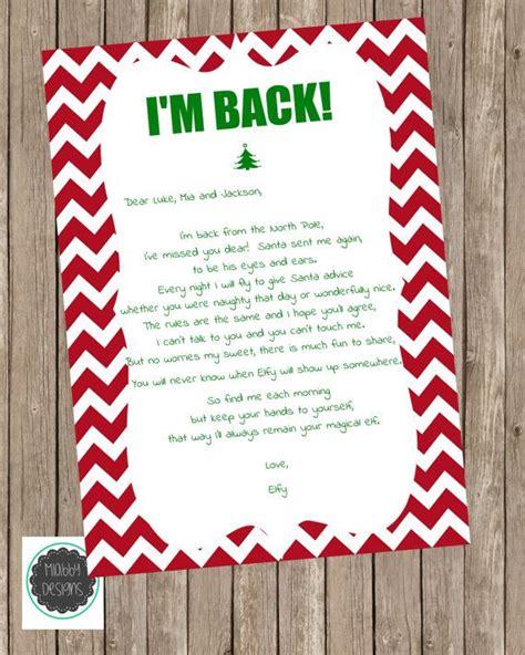 elf on the shelf i m back letter printable 17 best images about elf on a shelf on pinterest elf on
