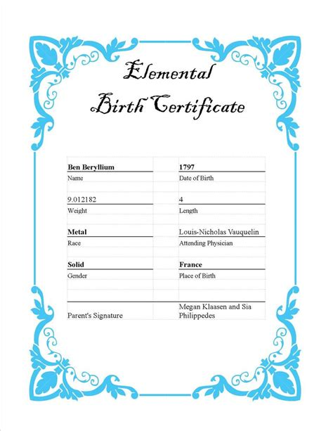 blank birth certificate template blank birth certificate images resume format for teachers
