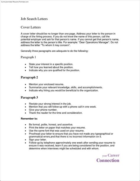 cv format word one page 1 page resume template word free sles exles
