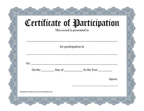certificate of participation template doc 25 unique gift certificate template word ideas on