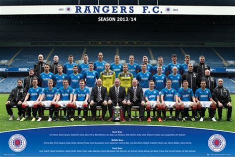 Football Stadium Wall Murals team photo 2013 14 rangers football club poster buy online