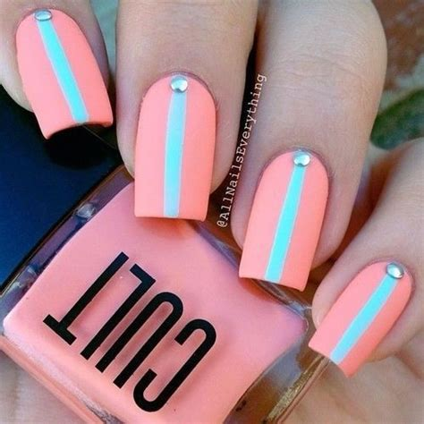 easy nail art bright colors colorful stripes 45 flirty spring nail art ideas for nail