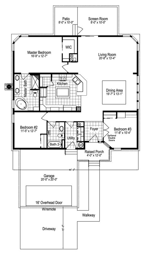 view sandburg floor plan for a 1760 sq ft palm harbor