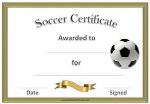 Soccer Certificate Template Free Soccer Award Certificate Template Customize Online