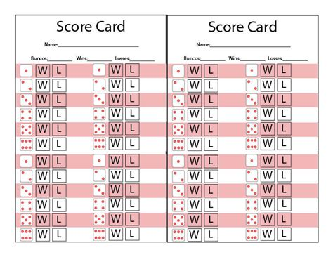 free bunco scorecard template printable bunco score sheet basketball scores