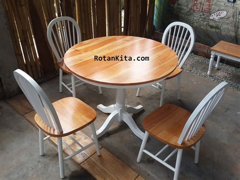 Kursi Rotan Putih kursi makan code rmkm29 rotankita