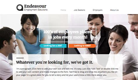 templates for recruitment website recruitment firm wix template wix business template