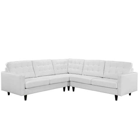 3 pc leather sectional sofa empress button tufted 3pc bonded leather sectional sofa