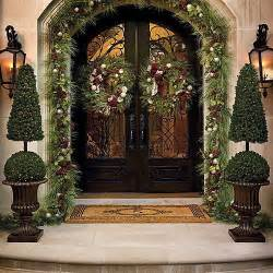 Outdoor Christmas Decor by Cone And Ball Topiary Christmas Decor Traditional