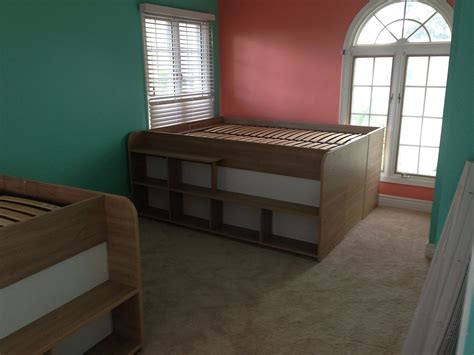 space  bed  storage