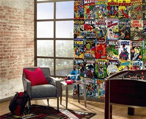comic book bedroom wallpaper home design inside