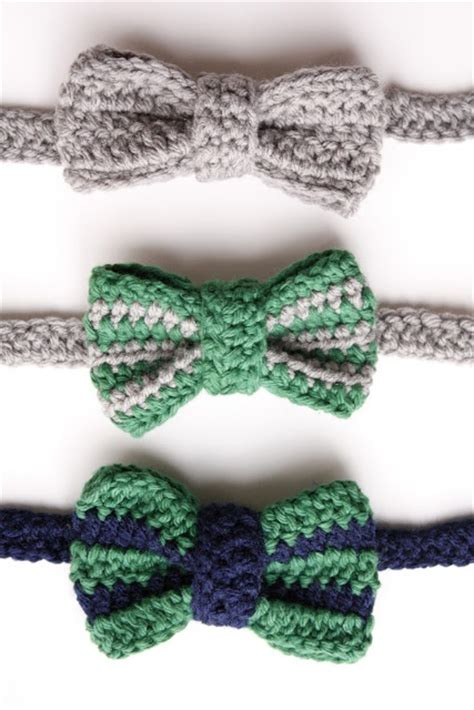 free crochet bow pattern crocheted bow tie kids pinterest