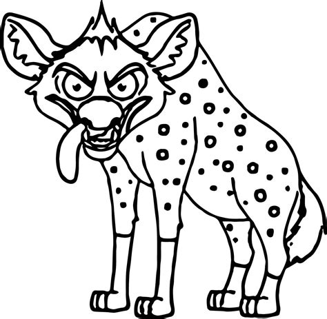 baby hyena coloring page angry looking hyena cartoon coloring page wecoloringpage