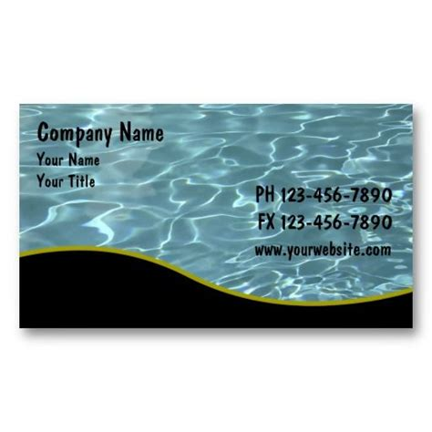 pool business card templates 19 best images about pool service business cards on