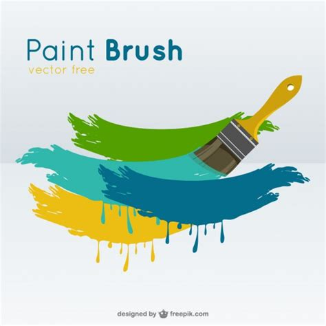 Kuas Cat 2 1 2 Koas Paint Brush paint brush vector vector free