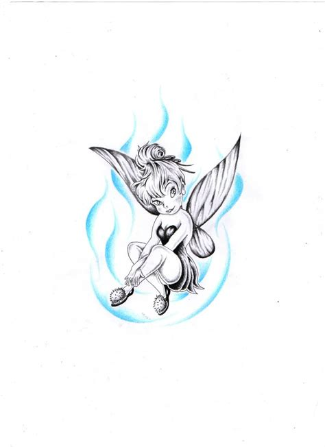 tinkerbell tattoos designs black outline tinkerbell design for side rib