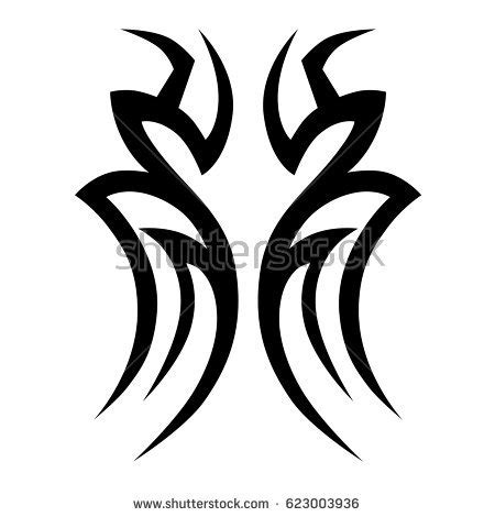 chest tattoo vector tribal chest stock images royalty free images vectors