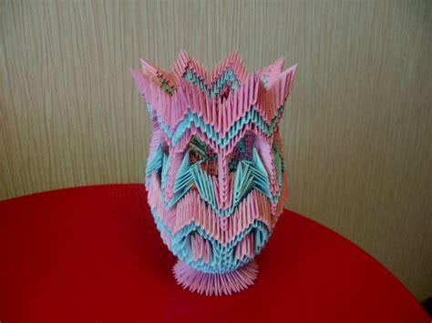 3d Vase Origami by Origami 3d Imagui