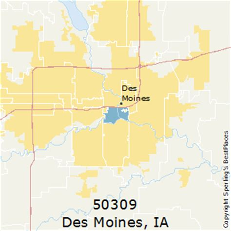 zip code map des moines best places to live in des moines zip 50309 iowa