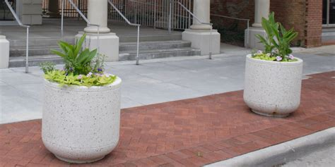 Planter Bollards architectural fiberglass planter bollards
