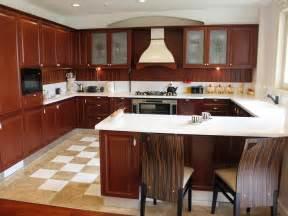closed kitchen design kitchen silver refrigerator under wooden cabinet and brick