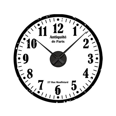sticker wall clock distressed personalised clock wall sticker by spin