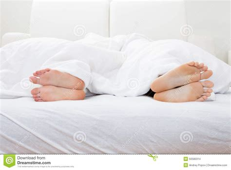schlaf bett up of s sleeping on bed stock photo