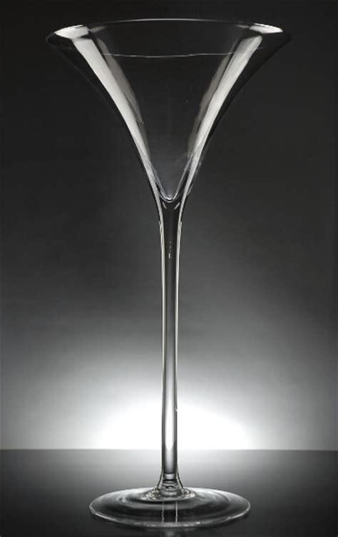Plastic Martini Vases by Martini Glass Vase 19 5in