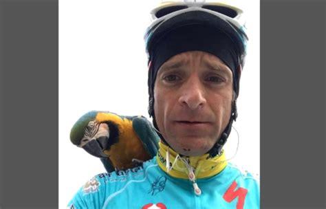 gallo rende michele scarponi pappagallo frankje gli rende omaggio sul