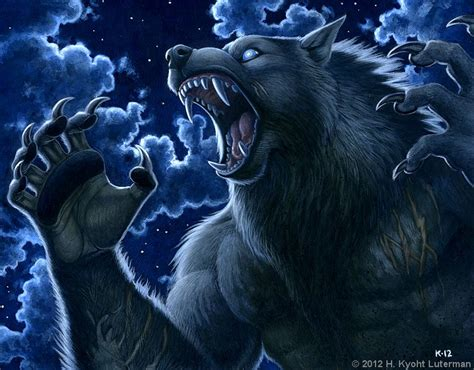 Werewolf Calendar 2013 - February by kyoht on DeviantArt Awesome Pictures Of Werewolves
