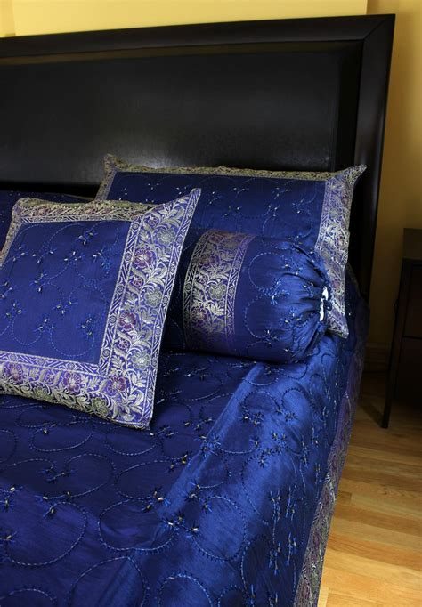 hand embroidered  piece duvet cover set banarsi designs